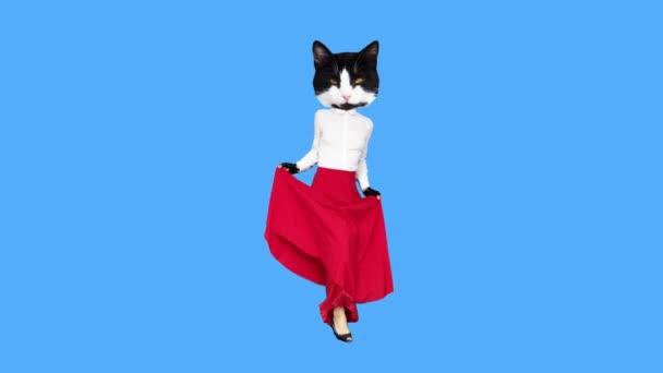 Gif Animationskunst Funny Kitty tanzt Flamenco