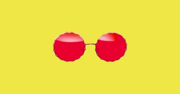 Motion fashion design art. Stylové sluneční brýle. Koncept volby