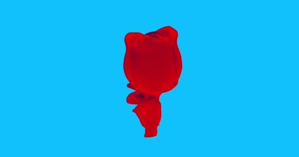 Minimální pohybový design gif. Rose flower suvenir