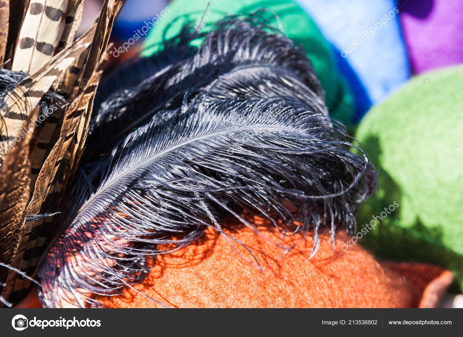 673c303f001 Bažant a pštrosí peří a Plstěné klobouky na prodej za historický jarmark  zdobí barevné středověkých klobouků