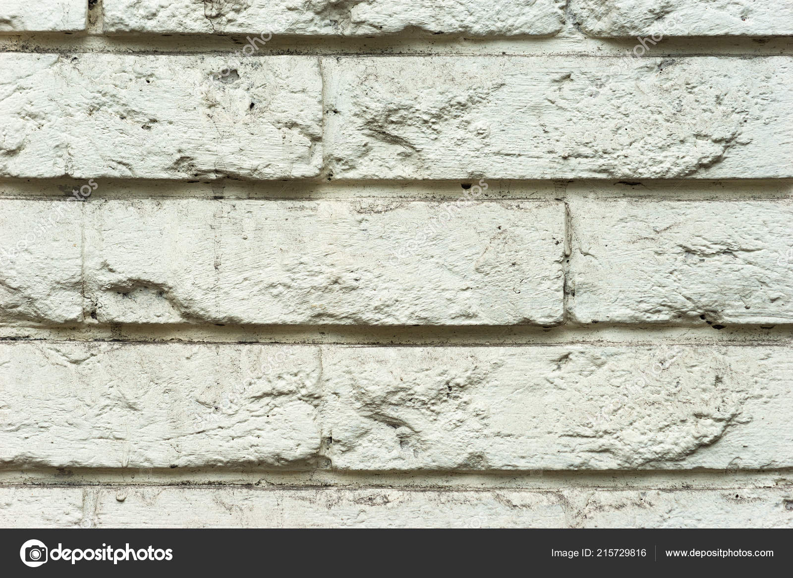 Grunge Rough Brick Wall Texture Painted White Light Beige Paint