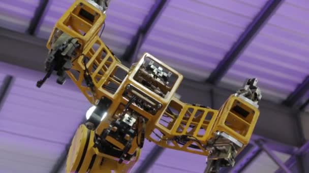 Technology Industrial Robotic Arm Closeup