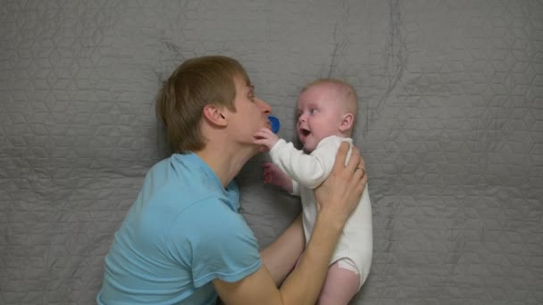 Father And Baby Pacifier