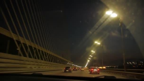 Night Bridge Road Cars
