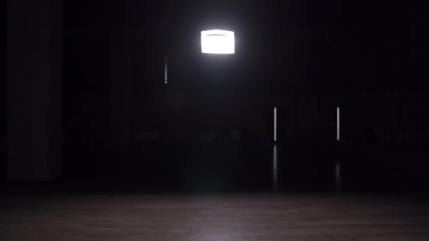 Dark Empty Studio Lights