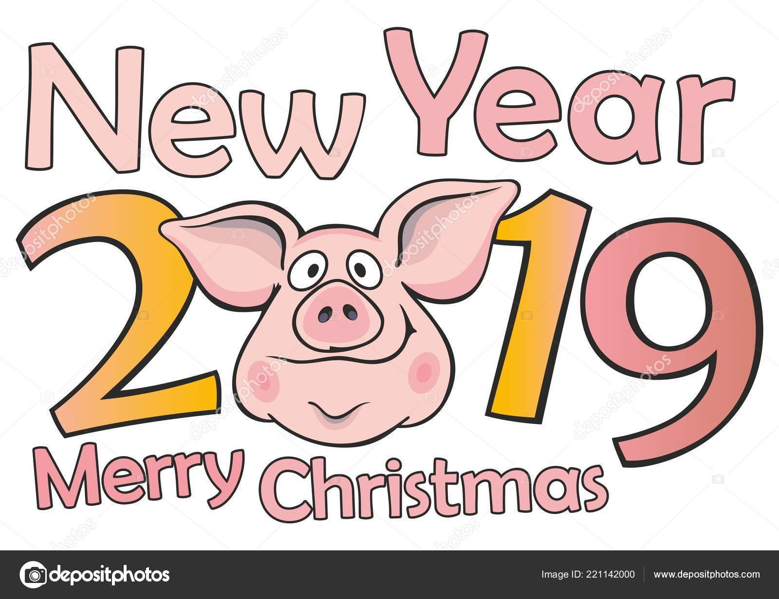 Funny Christmas Cards 2019 New 2019 Funny Christmas Pig Greeting Cards Merry Christmas New