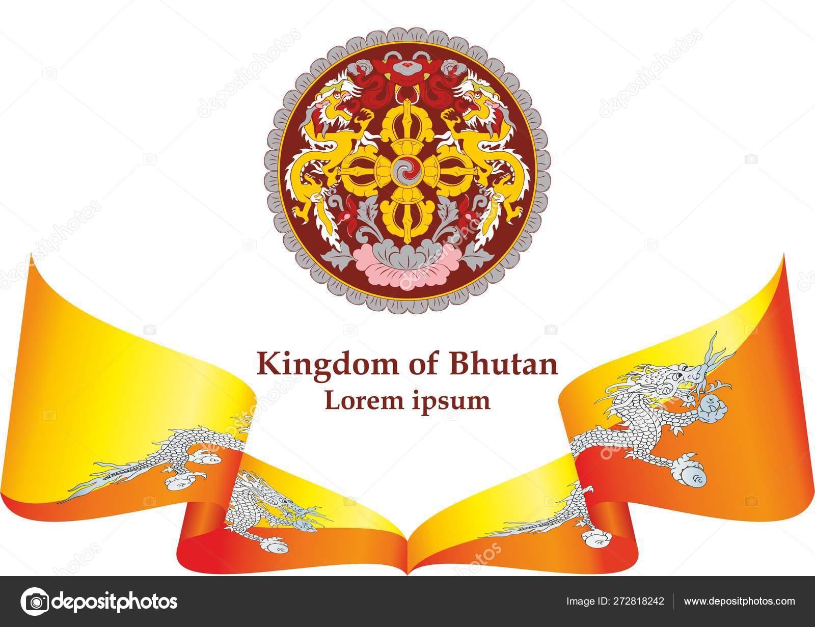 Flag Bhutan Kingdom Bhutan Template Award Design Official