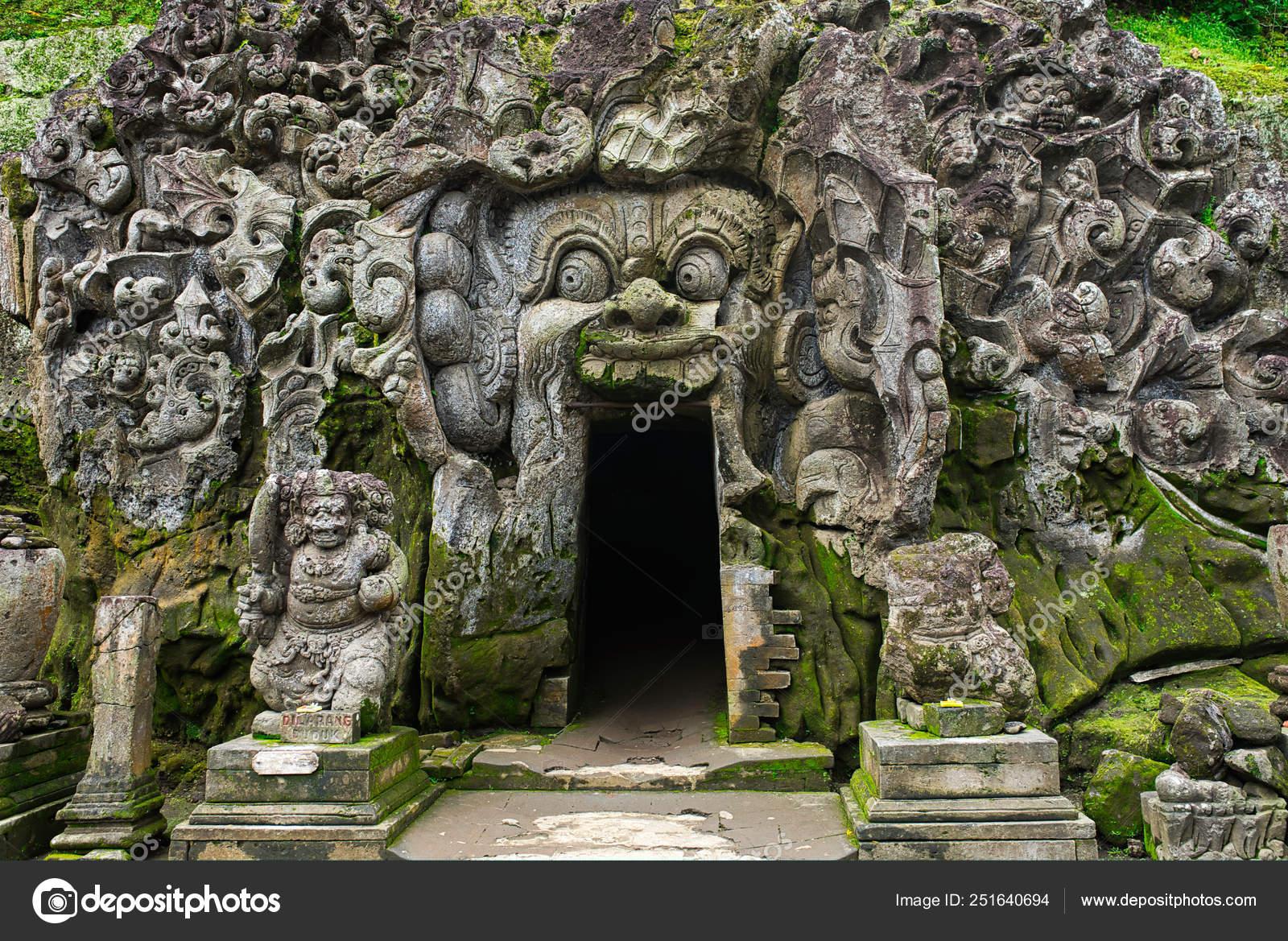 Goa Gajah Temple Entrance Goa Gajah Elephant Cave Located
