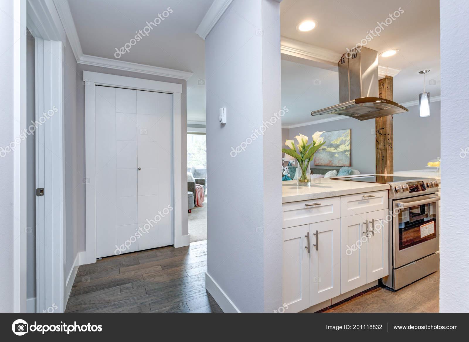 White Small Kitchen Stainless Steel Appliances Modern ...