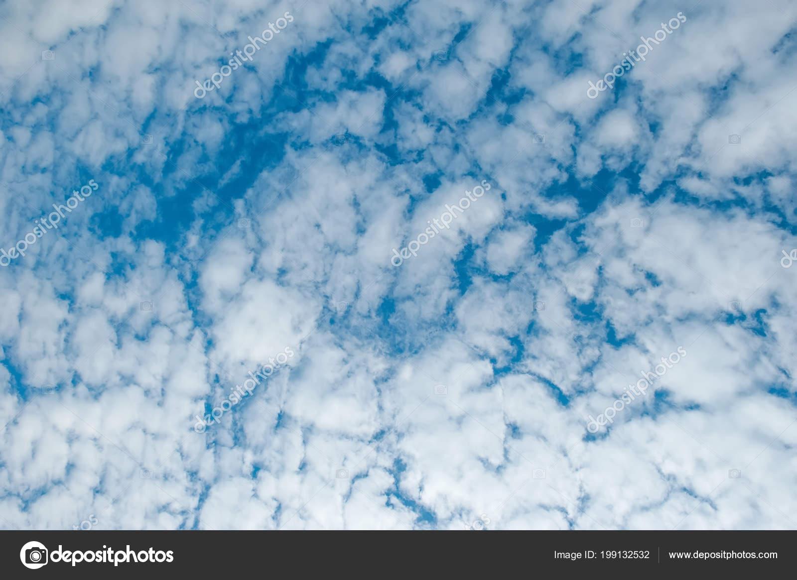 Fondo Nubes Mullidas Blanco Estructura Horizontal Foto De