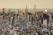 Panoráma města New York. Pohled shora na New York City