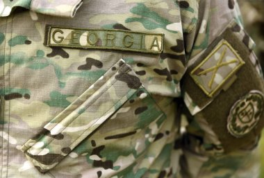 Georgia army uniform. Georgian troops