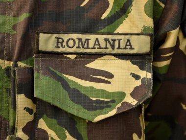 Romania military uniform. Romanian troops