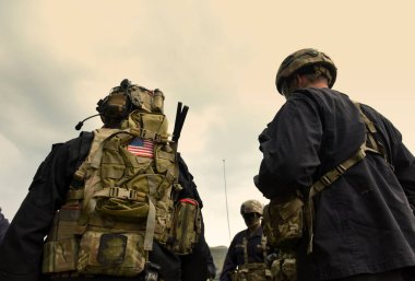 US soldiers equipment. US army. US military uniform. US troops.