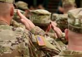 uns Soldaten grüßen. uns Armee. uns Truppen. Militär der USA.