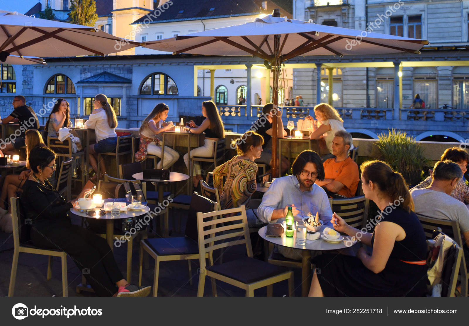 People At Cafe In The Center Of Ljubljana Stock Editorial Photo C Bumble Dee 282251718