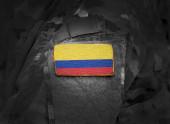 Fotografie Flagge Kolumbiens auf dem Arm der Soldaten (Collage).