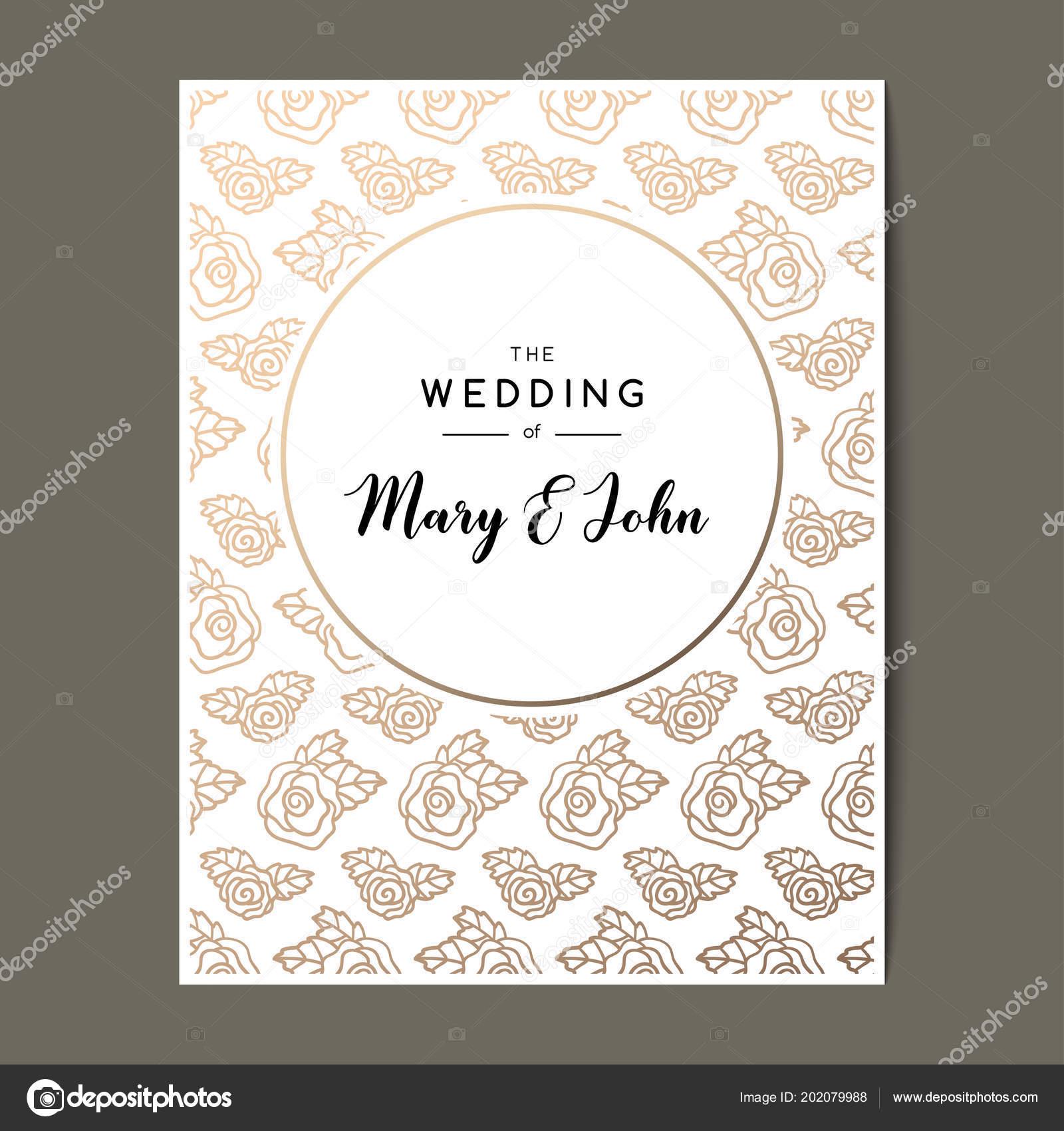 Elegant Wedding Invitation Background Vector Card Design Ornament ...