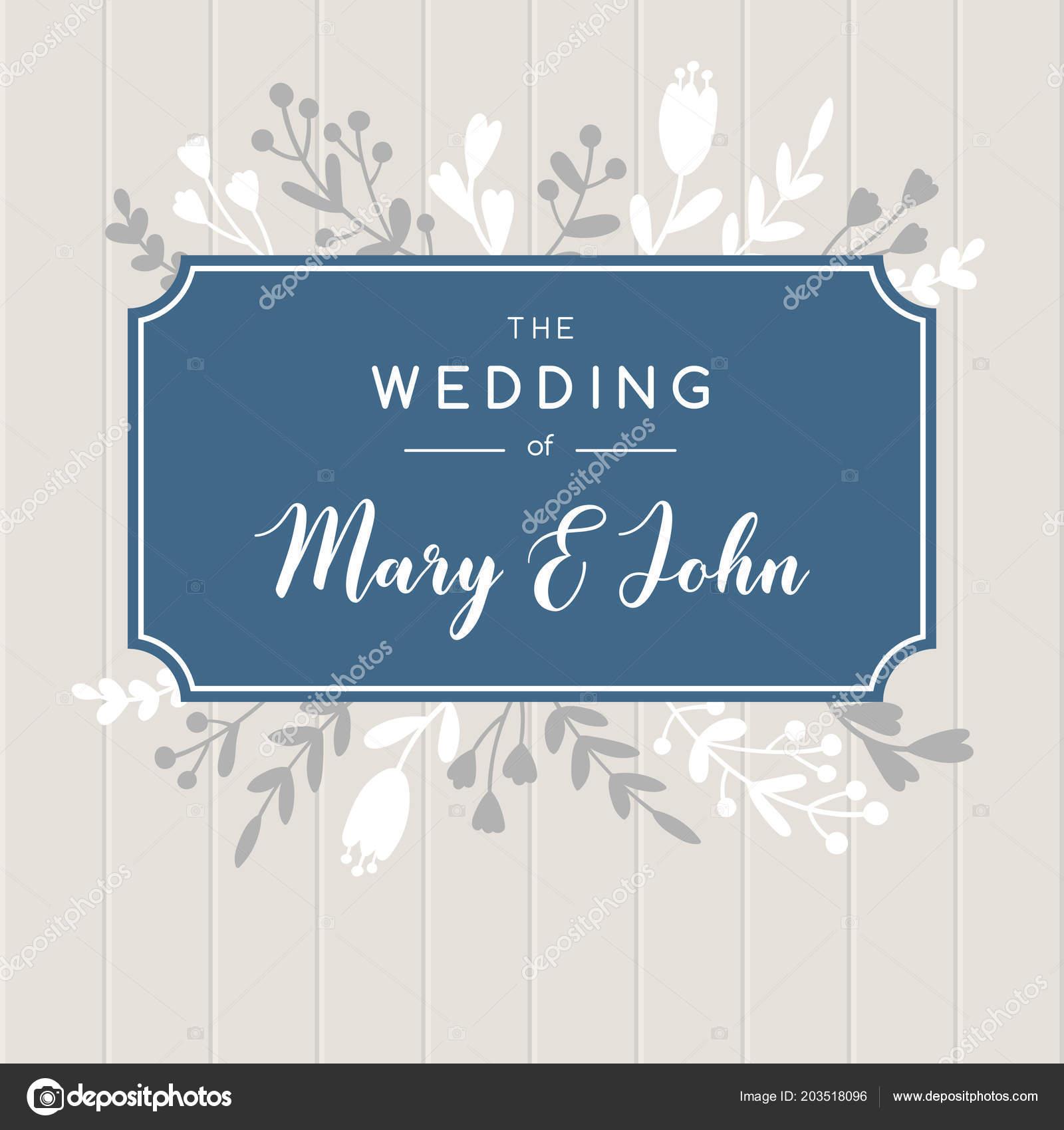 elegant wedding invitation background vector greeting card design