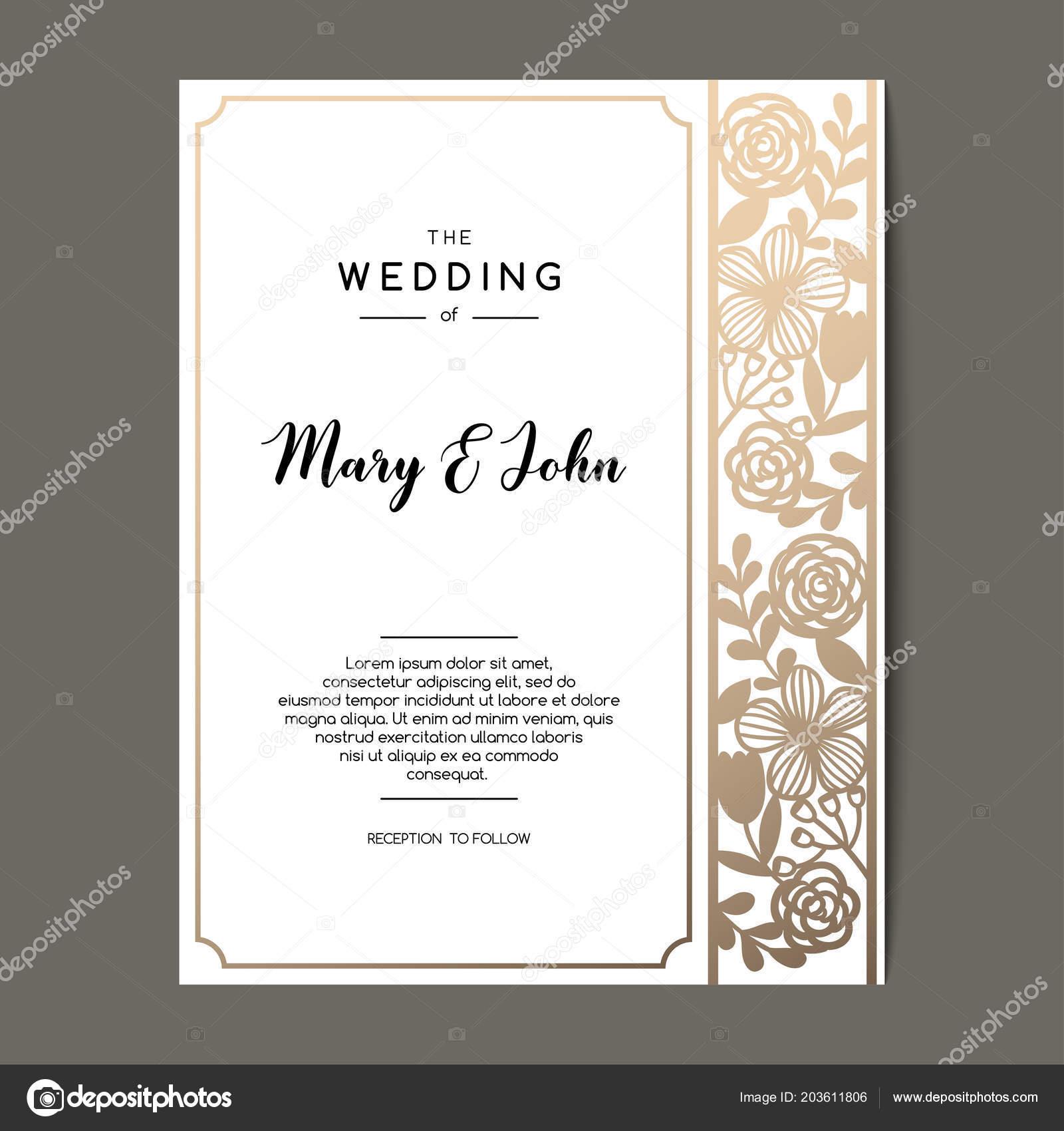 Elegant wedding backdrop design | Elegant Wedding Invitation Background  Floral Ornament Vector Greeting Card Design — Stock Vector © Pravdinal  #203611806
