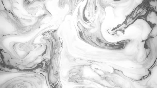 Absztrakt festék festék mozgásban. Pszichedelikus háttér felvételeket. Fekete-fehér foltok.