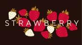 Fotografie Elegante Luxus-Erdbeer Design-element