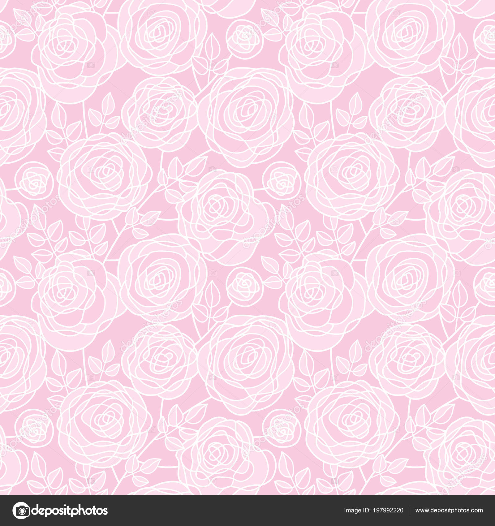 Dessin Sans Soudure De La Simple Couleur Pâle Fleurs Rose