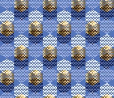 Festive luxury elegant geometric seamless pattern