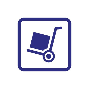 Handcart icon on white background. Vector illustration icon