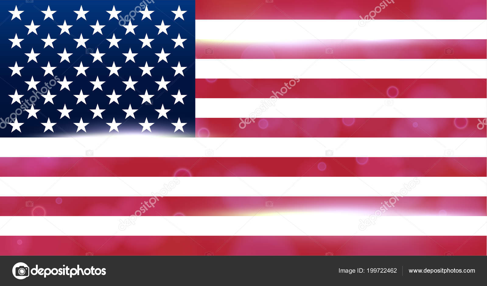 The National Flag Of The Country Of United States Of America