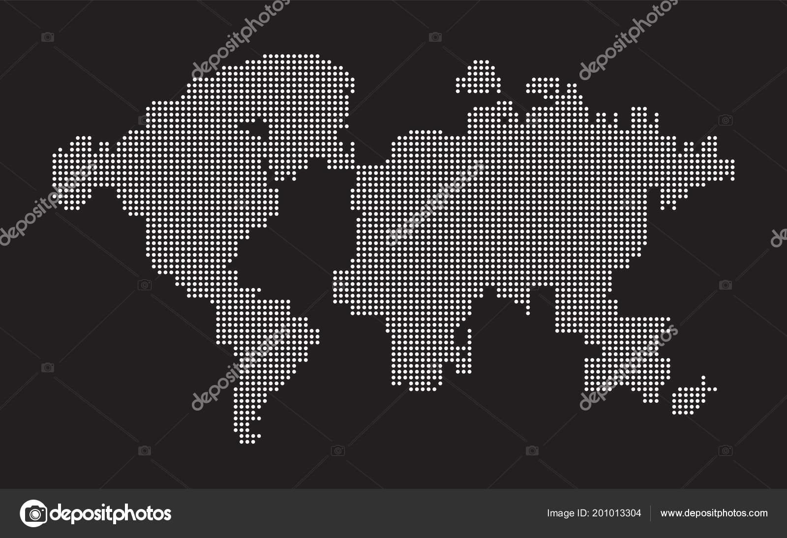 Carte Black Signification.Monde Carte Point Points Composition Ce Qui Represente La