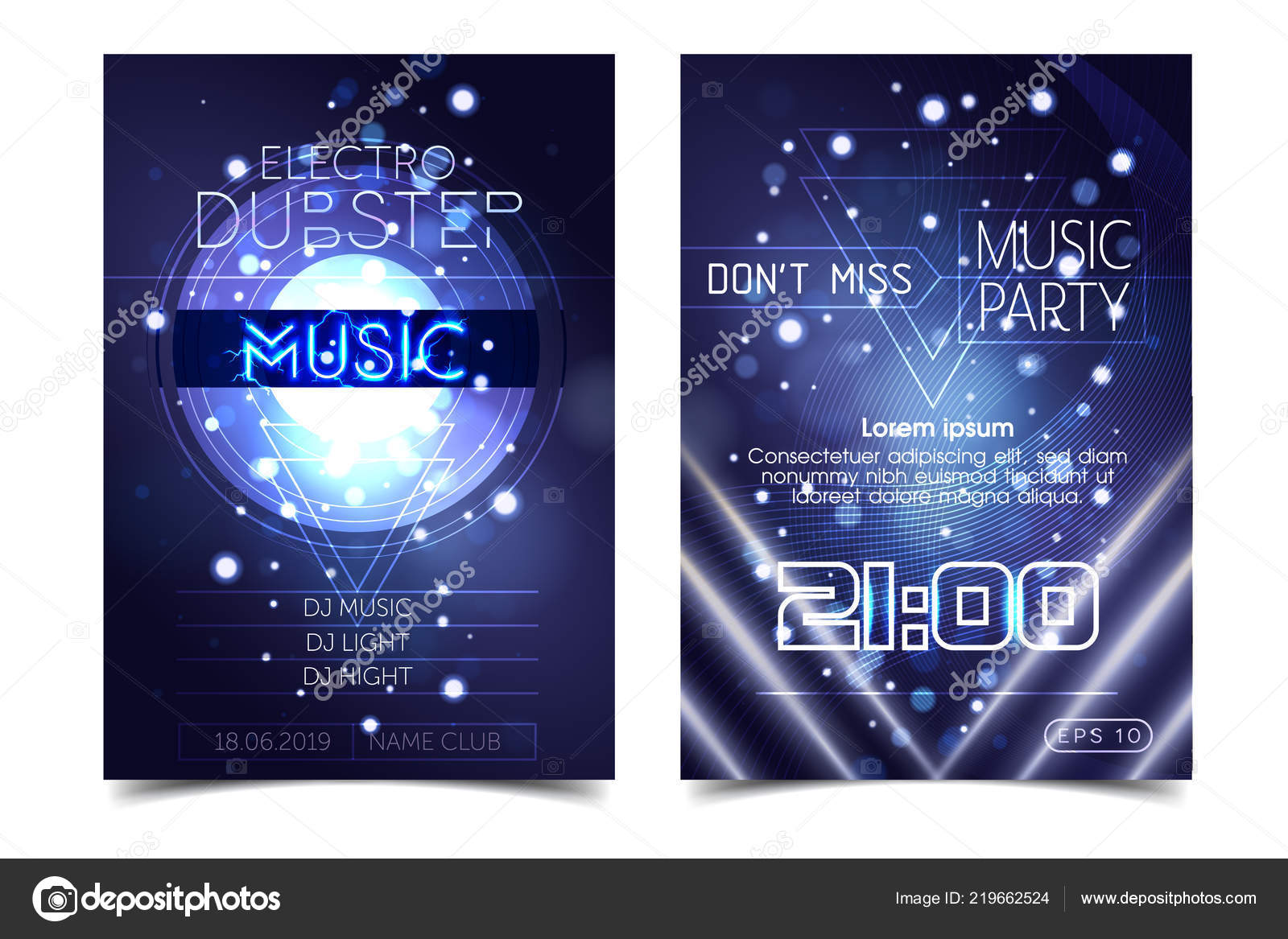 Sound of music party invitations   Electro sound party music