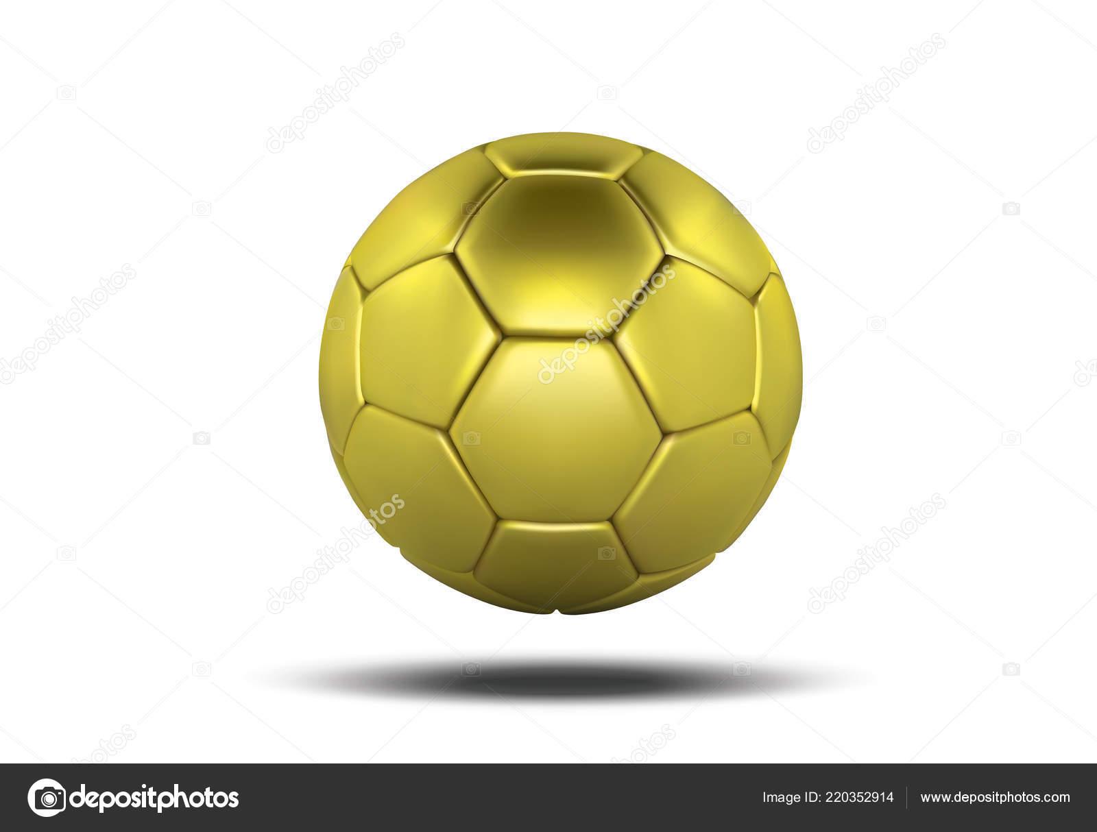 c5244935f stock illustration. Golden soccer ball isolated on white background. Golden  football ball. Realistic soccer 3d ball