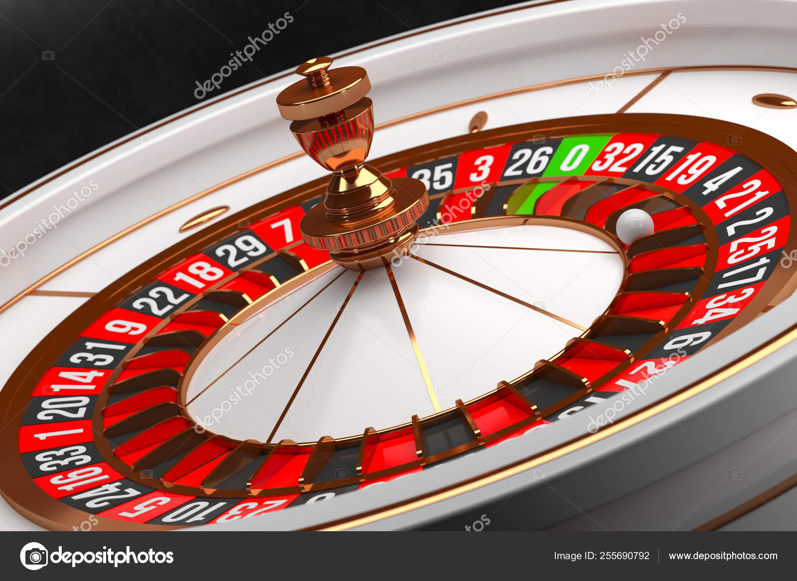 Luxury Casino Roulette Wheel On Black Background Casino Theme Close Up White Casino Roulette With A Ball On Zero Poker Game Table 3d Rendering Illustration Stock Photo C Volmon Tut By 255690792
