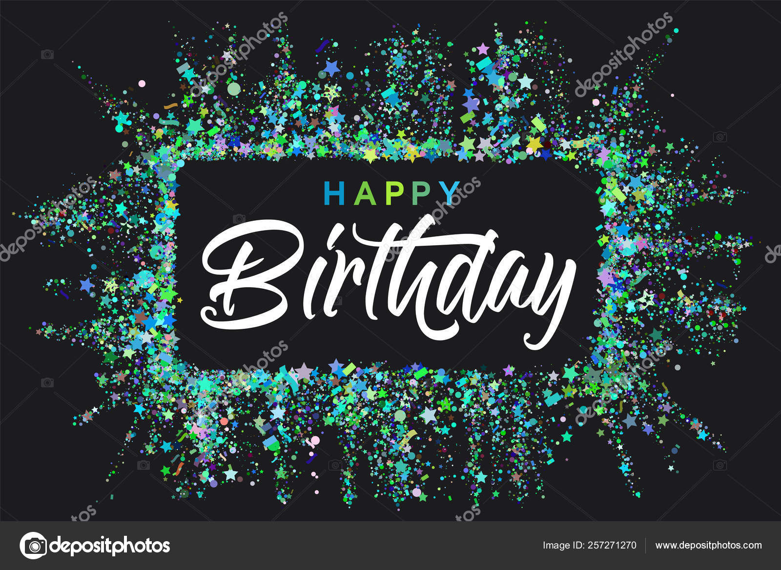 Happy Birthday typography design for greeting cards and