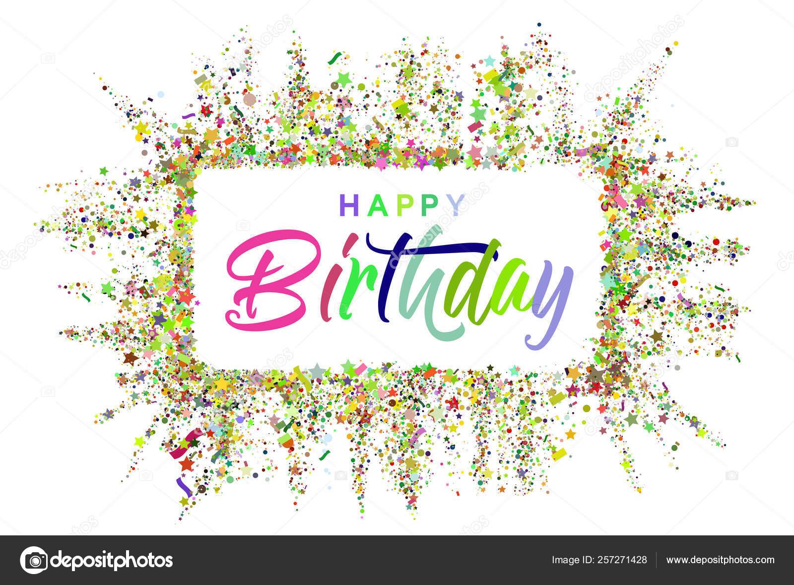 Diseño Tipográfico De Feliz Cumpleaños Para Tarjetas De