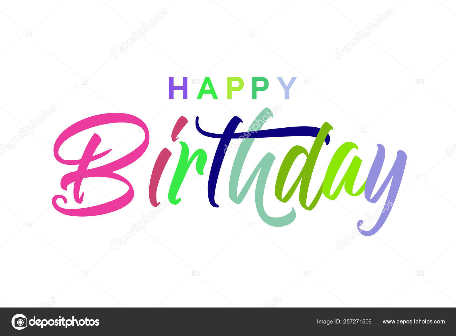 Happy Birthday card, banner  Beautiful greeting poster with
