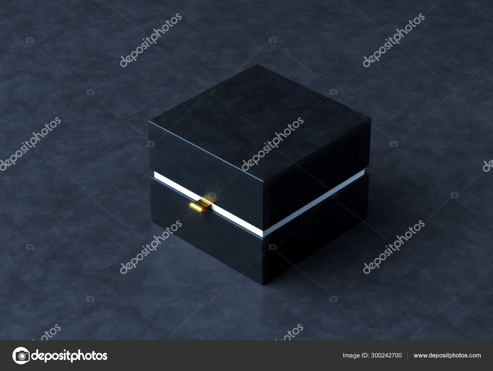 Black Gift Box Mockup On Black Background 3d Rendering Luxury Packaging Box For Premium Products Stock Photo C Volmon Tut By 300242700
