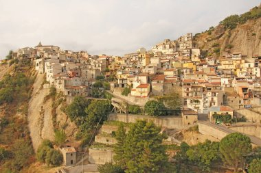 Old City on the Rock. The island of Sicily, Italy