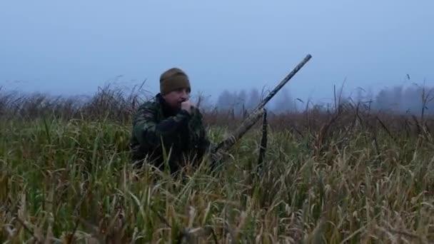 Hajnali vadászat mocsárból a kacsa