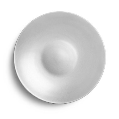 Empty ceramic plate isolated on white background with clipping path. stock vector