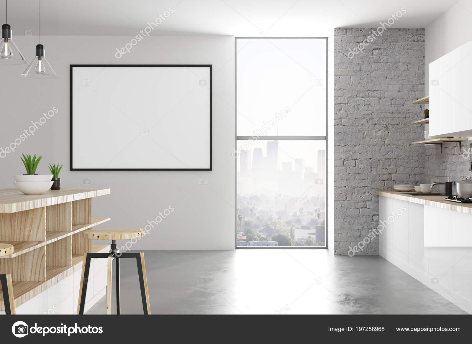 Interiore Della Cucina Moderno Loft Con Tabellone Affissioni ...