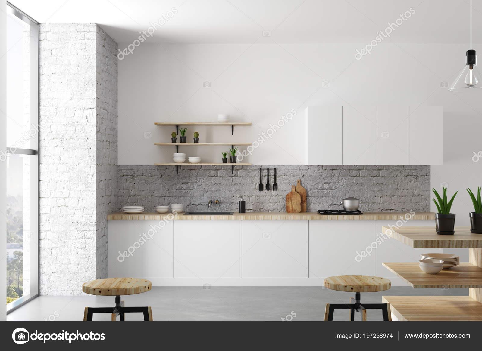 Daglicht Je Keuken : Schone lichte loft keuken interieur met meubels apparaten daglicht