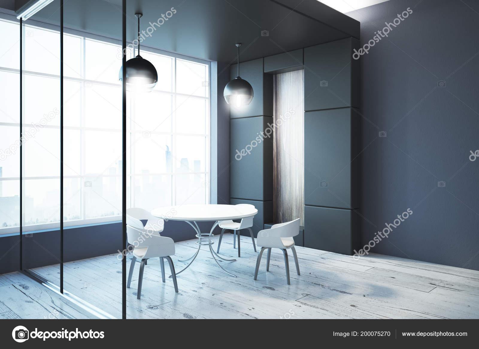 Moderne Esszimmer Einrichtung Mit Möbel Stadtblick ...