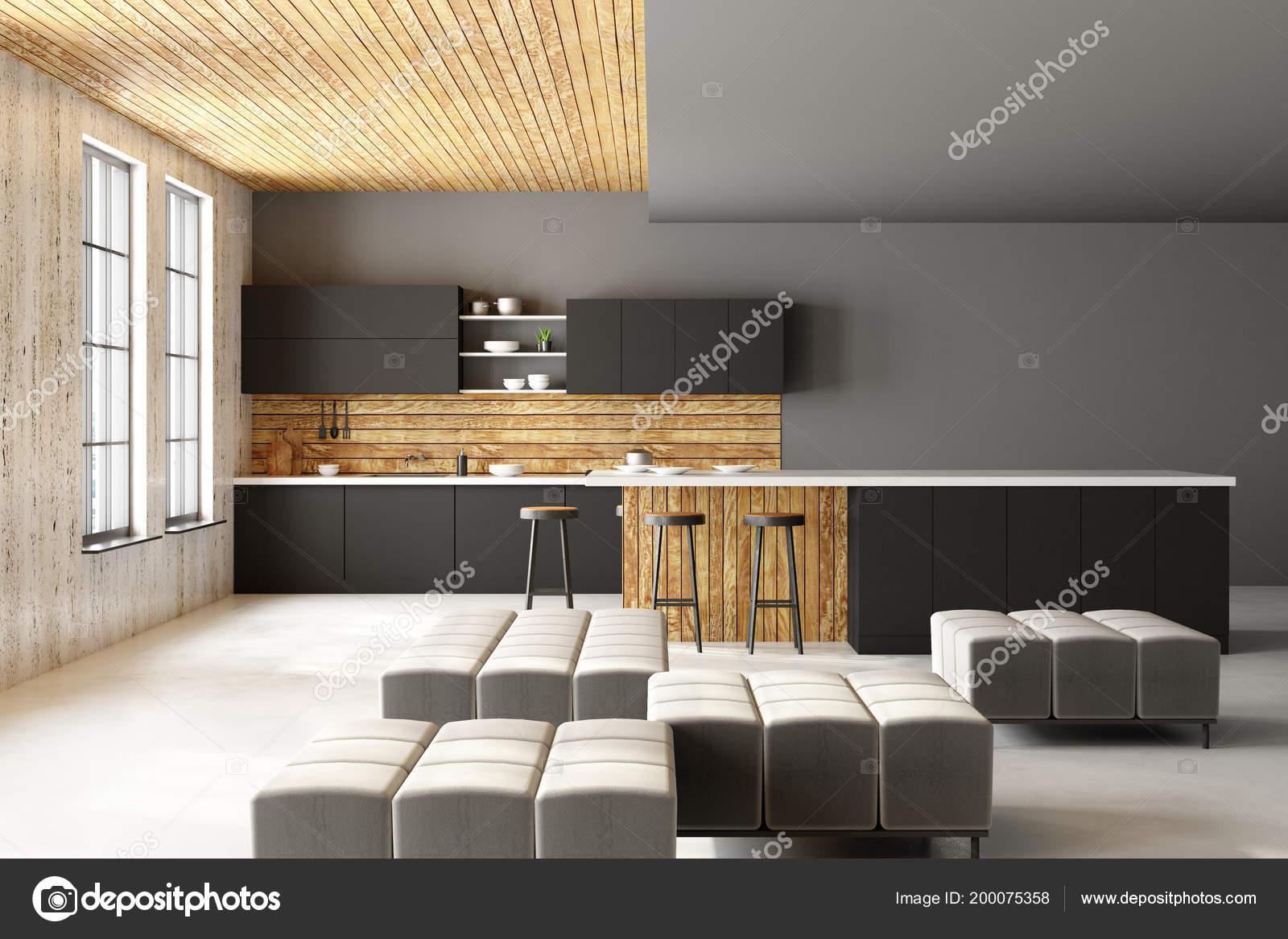 Loft Küche   Moderne Loft Kuche Interieur Mit Mobel Gerate Blick Auf Die