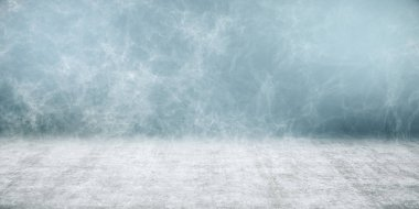 abstract blurry concrete background with white smoke. 3d rendering