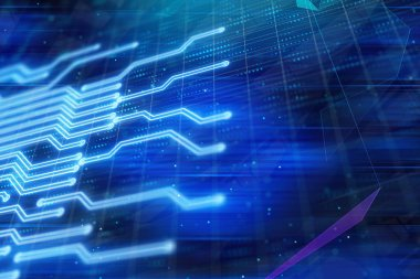digital technologies abstract background. 3d rendering