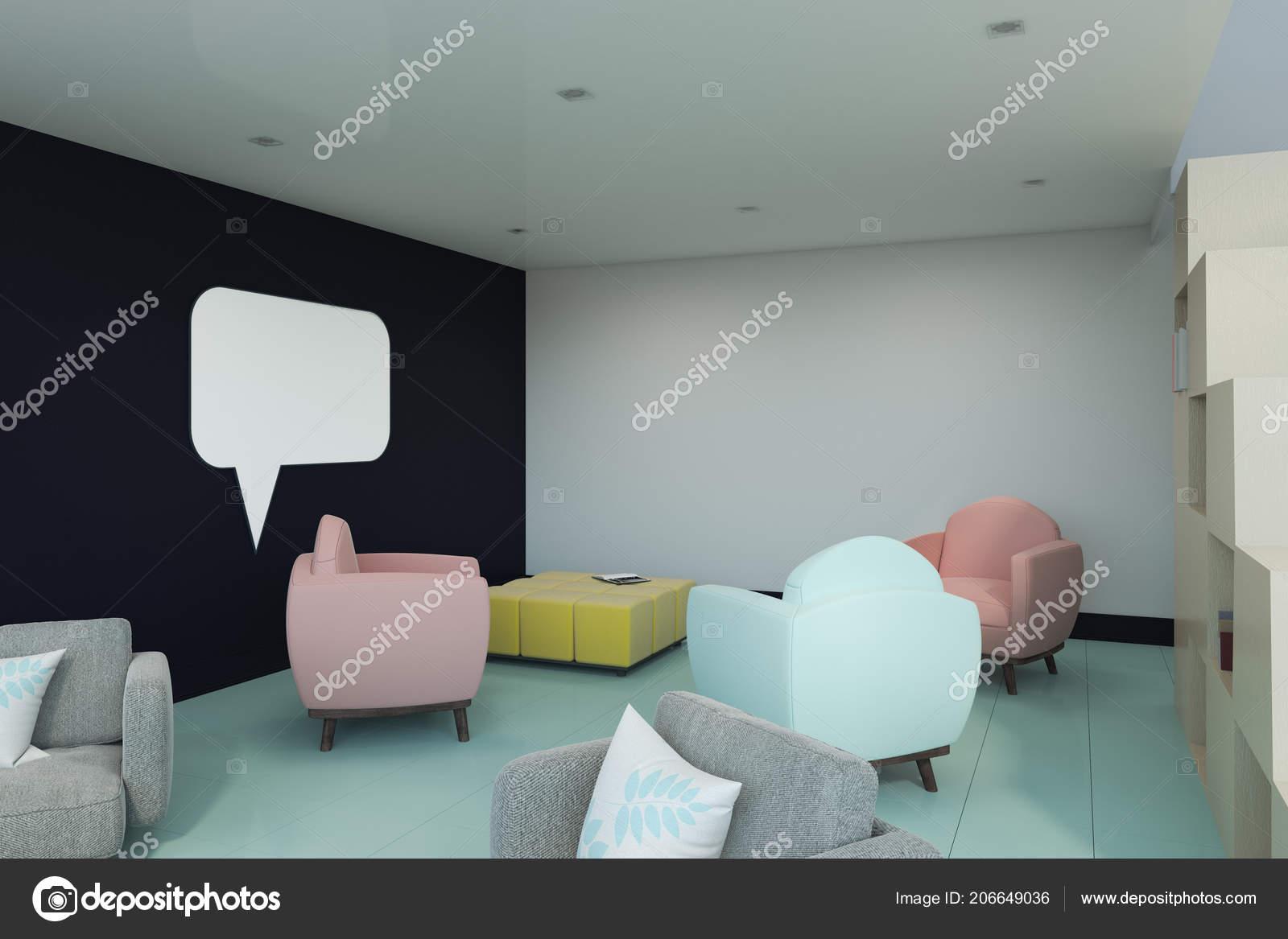 Sillones Coloridos.Interior Moderno Con Sillones Coloridos Ventana Conversacion