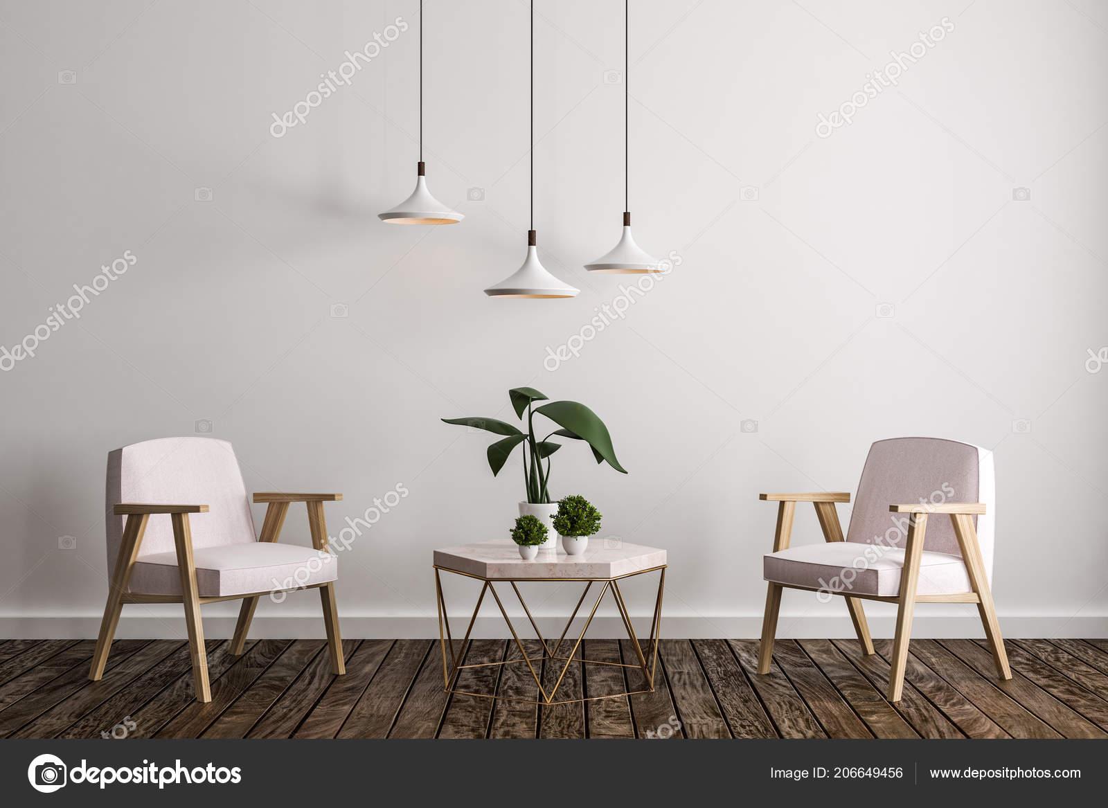 Intérieur Salon Contemporain Avec Meubles Plante Décorative ...