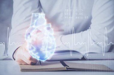 Abstract heart on background. Medicine and health concept.